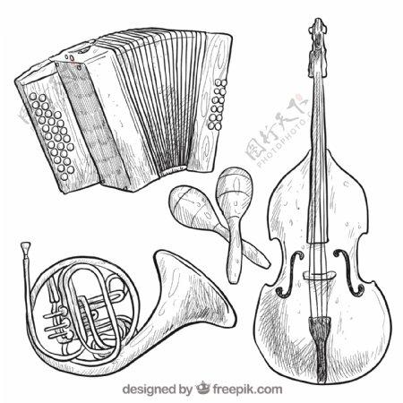 手绘乐器收藏