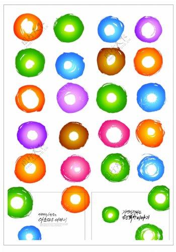 笔刷设计应用背景图案矢量素材AI格式0292
