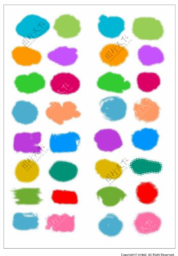 笔刷设计应用背景图案矢量素材AI格式0307