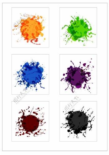 笔刷设计应用背景图案矢量素材AI格式0364