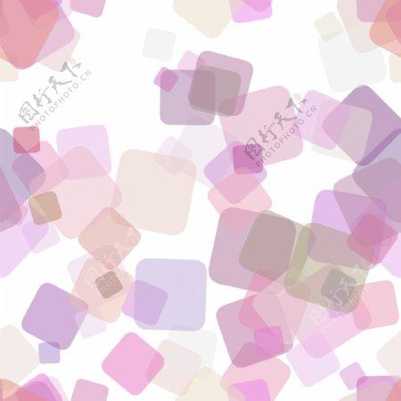 基于随机旋转正方形的抽象几何正方形图案背景矢量设计