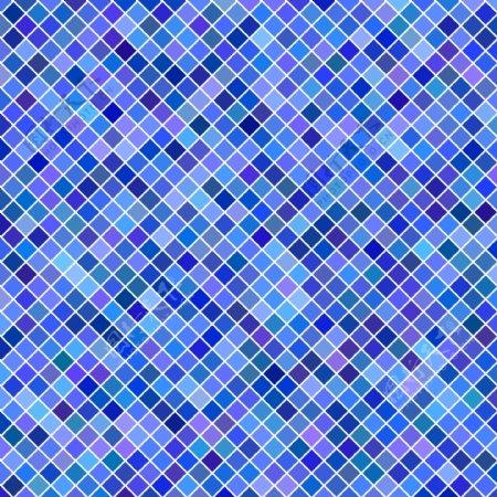 正方形图案背景从蓝色调的对角线正方形的几何矢量图形