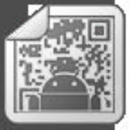 灰色折角风格的android图标集