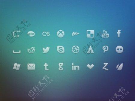网页社交生活活动icons设计
