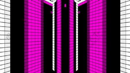 酒吧VJ紫色方格酷炫动感背景光效
