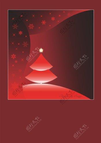 矢量圣诞节圣诞树梦幻背景素材