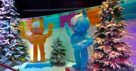 冰雕机器猫冰雕世界景点旅
