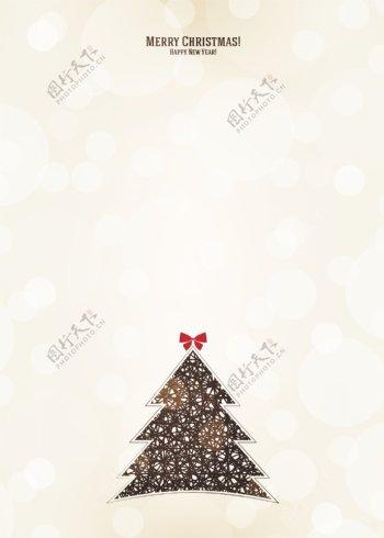 矢量创意圣诞树梦幻背景素材