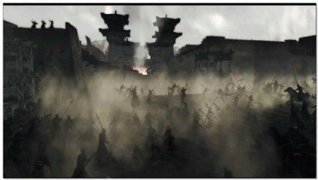 古代战争大场面视频素材