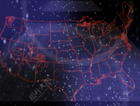 美国地形图
