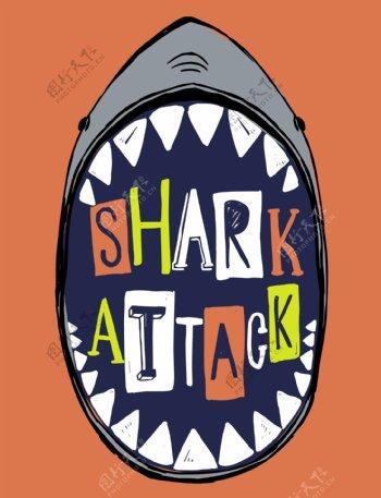 卡通鲨鱼矢量图下载