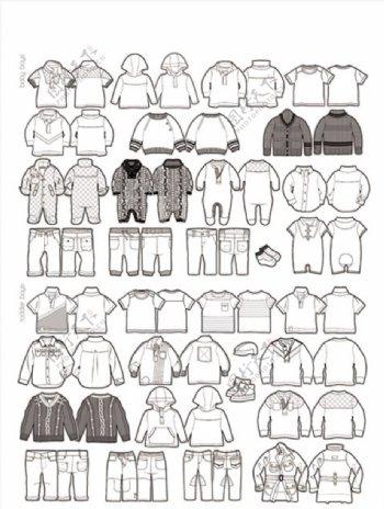 童装服装模板