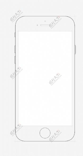 iphone6线框图