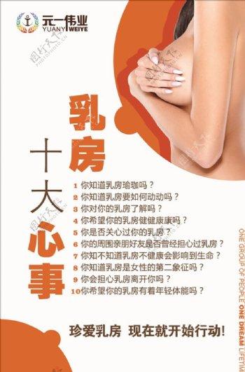 乳房十大问题海报