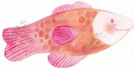 小鱼儿卡通水彩透明素材