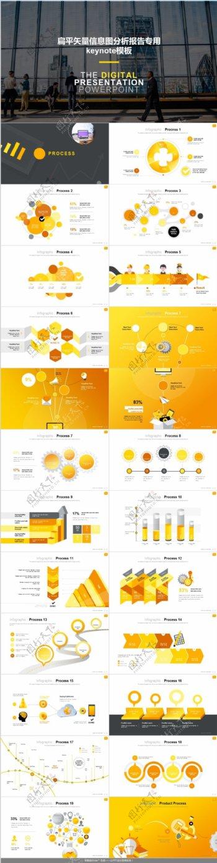 扁平矢量信息图分析报告专用keynote模板
