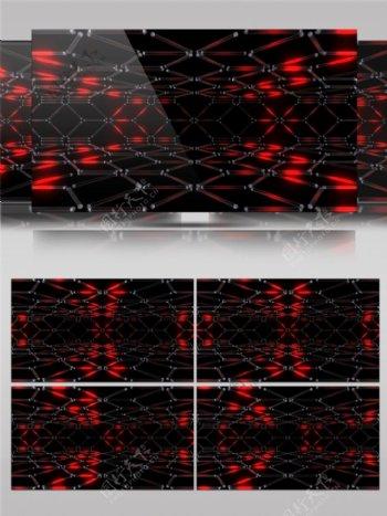 红色光束星光视频素材