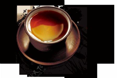 文化内涵深褐色茶杯产品实物