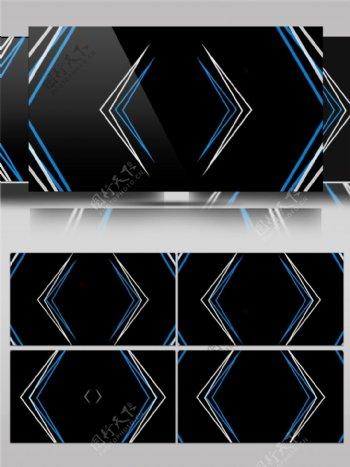 蓝色箭头光束动态视频素材