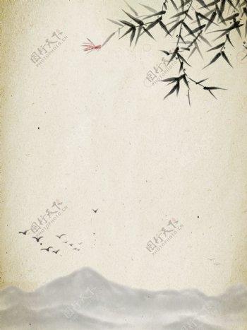 简约中国风背景矢量插图