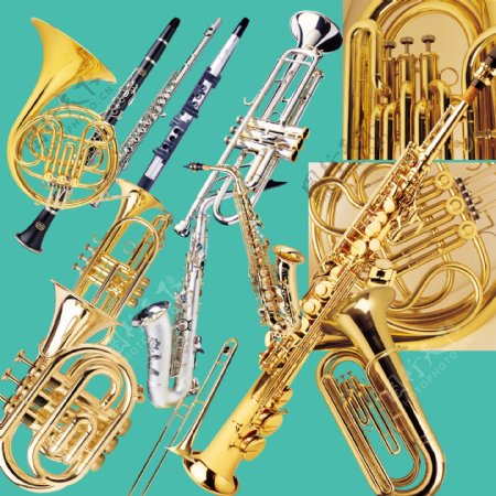 高清西洋管弦乐器素材