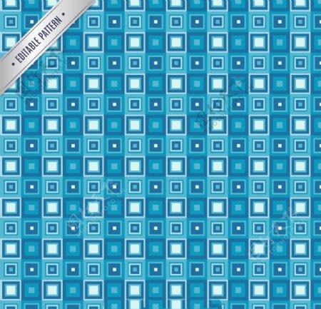 复古蓝色方形图案