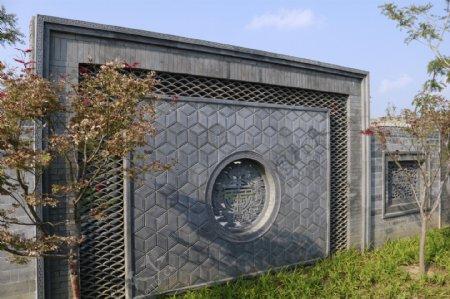 唐语砖雕拱形门