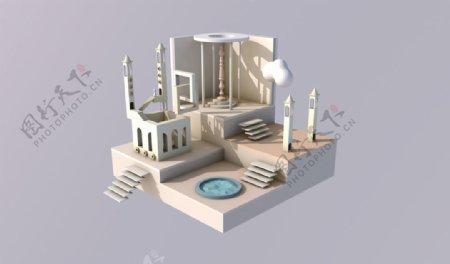 3D设计时间之城
