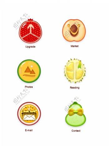 手机app水果主题图标icon设计