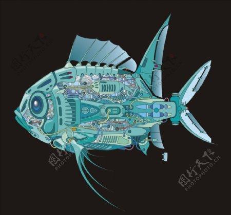 机器鱼矢量图