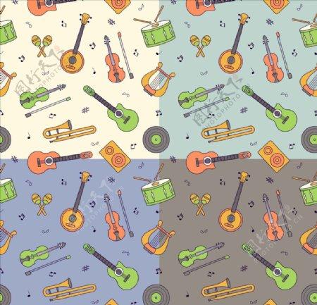 矢量音乐元素图标