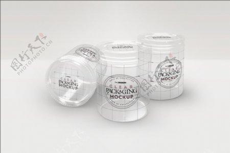 透明罐子样机模板