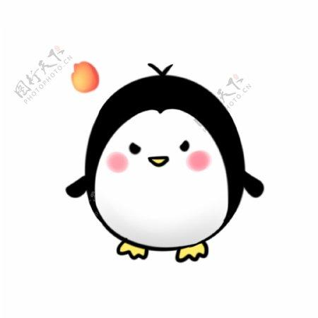 原创可爱企鹅生气表情包