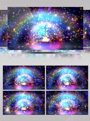 4K星球粒子飞射陨石流星动感DJ背景VJ