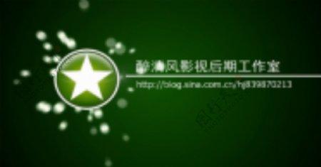 会声会影震撼绿色光点特效网站宣传文字片头