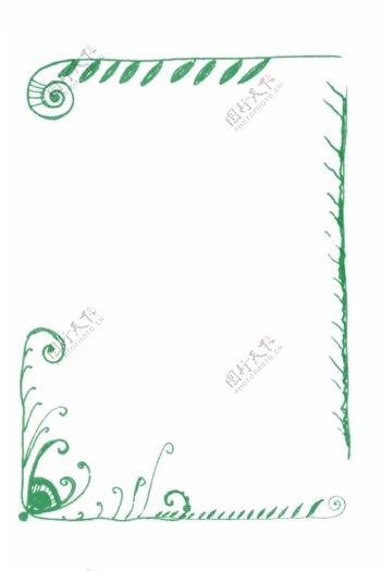 绿色清新纹理边框