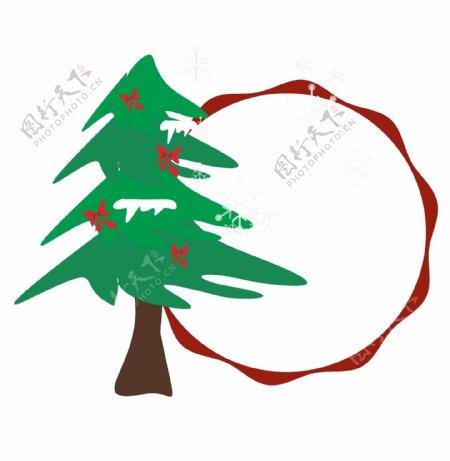 圣诞节红色精致边框