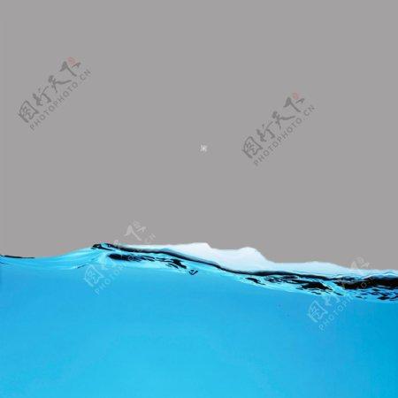 水花水浪蓝色水滴元素