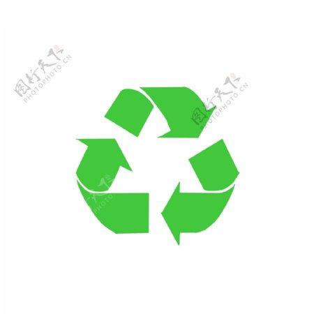 绿色环保标示垃圾可回收