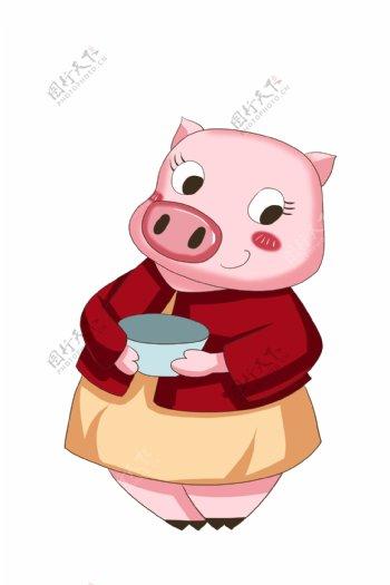 2019年粉色猪恭贺新春