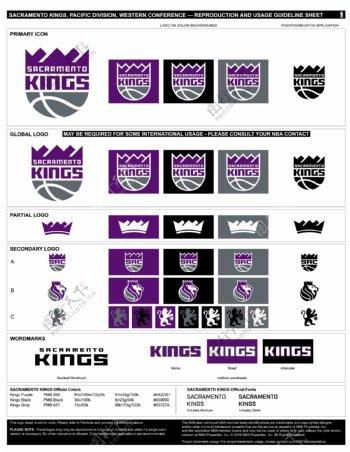 新NBA萨克拉门托国王logo