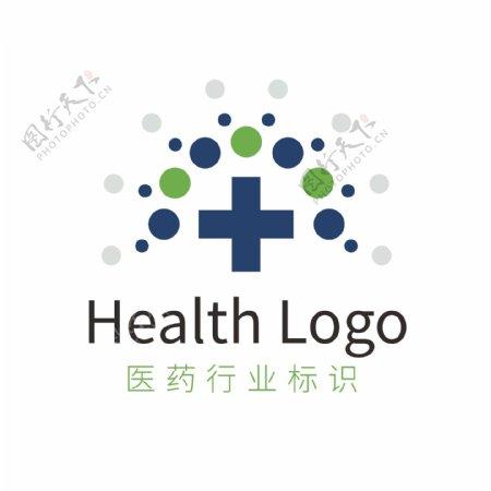 蓝色医疗药物卫生健康行业logo模板