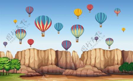 卡通气球插画