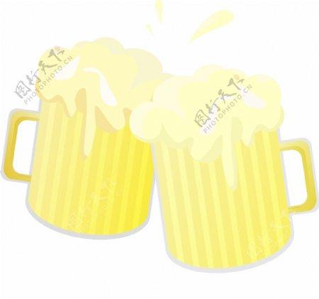 碰杯喝酒图案插图