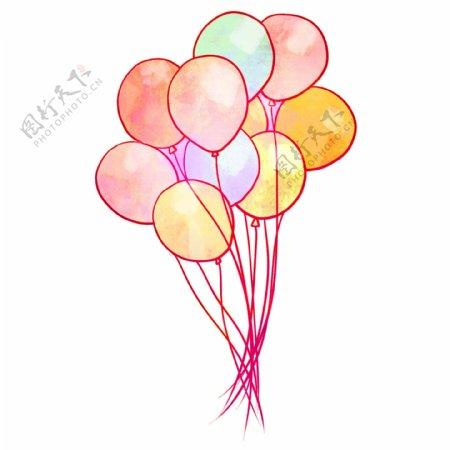 漂亮的卡通气球插画