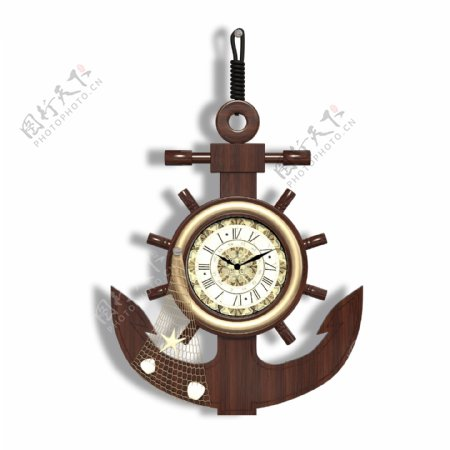欧式家具航海轮壁挂钟