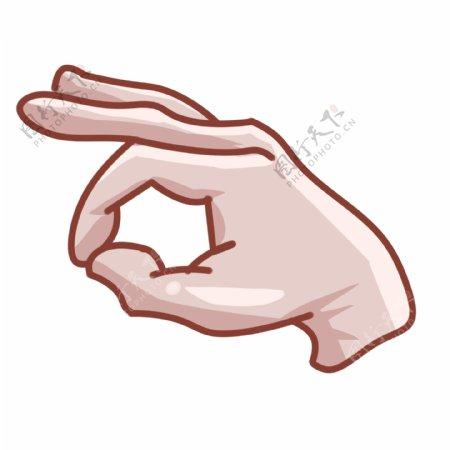 OK的手势的插画