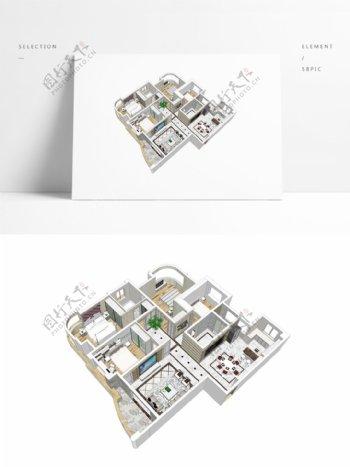 欧式风格住宅SU透视模型