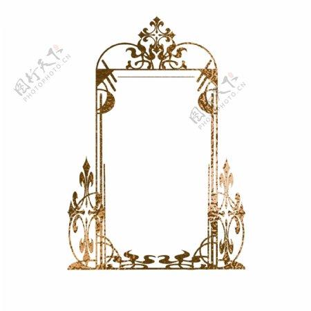 金箔金色欧式纹理边框