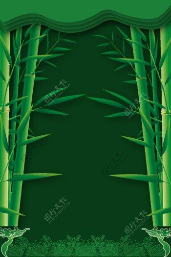 绿色竹子背景